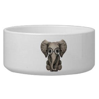 Nerdy Baby Elephant Wearing Glasses