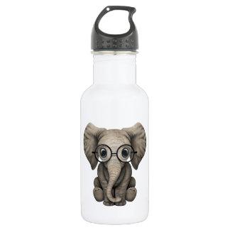 Nerdy Baby Elephant Wearing Glasses 532 Ml Water Bottle