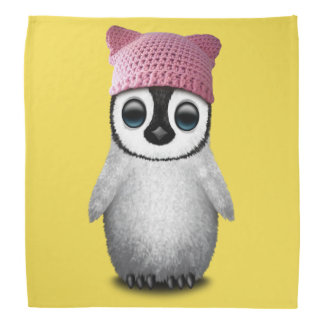 Nerdy Baby Penguin Wearing Pussy Hat Bandana