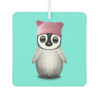 Nerdy Baby Penguin Wearing Pussy Hat Car Air Freshener