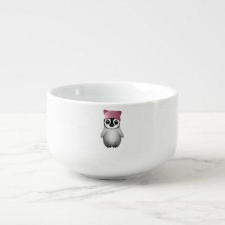 Nerdy Baby Penguin Wearing Pussy Hat Soup Mug