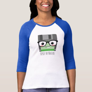 Nerdy by Nature Floppy Disc T-Shirt