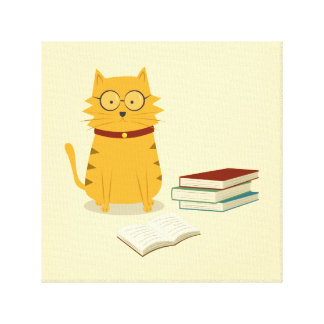 Nerdy Cat Canvas Print
