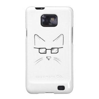 Nerdy cat galaxy s2 cases