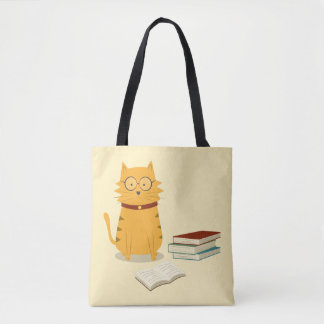 Nerdy Cat Tote Bag