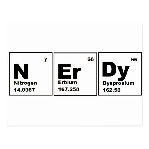 Nerdy Chemistry Product! Postcards