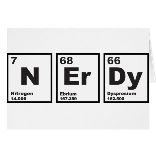 Nerdy Elements Greeting Cards