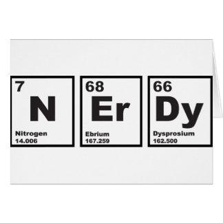 Nerdy Elements Greeting Card