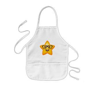 Nerdy Emoji Star Kids Apron