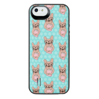 Nerdy French Bulldog iPhone SE/5/5s Battery Case