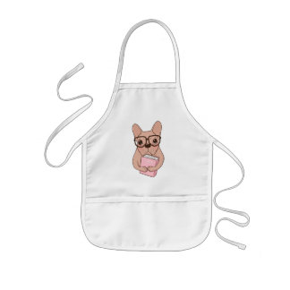 Nerdy French Bulldog Kids Apron