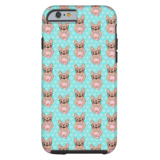 Nerdy French Bulldog Tough iPhone 6 Case