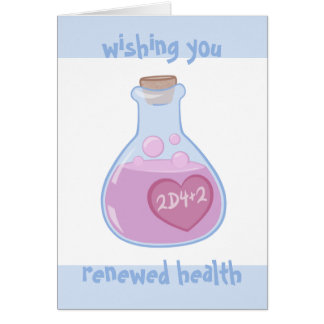 Nerdy Get Well Card: Health Potion Card