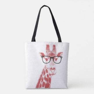 Nerdy Giraffe Tote Bag