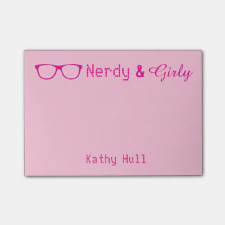Nerdy & Girly Post It Notes