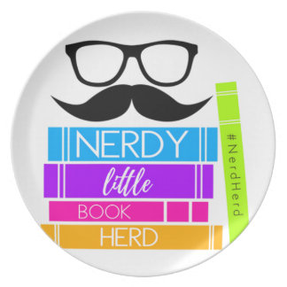 Nerdy Little Book Herd Plate