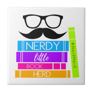 Nerdy Little Book Herd Tile