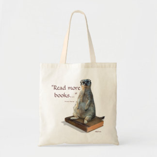Nerdy Meerkat, hipster, goofy, librarian, funny Budget Tote Bag