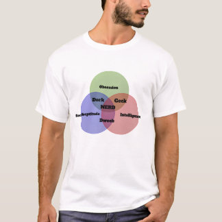 Nerdy Nerd Venn Diagram T-shirt