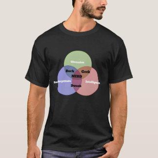 Nerdy Nerd Venn Diagram T-shirt in black