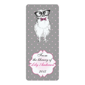 Nerdy Owlet - bookmark library Card