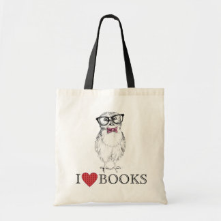 Nerdy Owlet library bird Budget Tote Bag