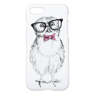 Nerdy Owlet pink tie iPhone 7 Case