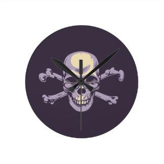 Nerdy Pirate Round Clock
