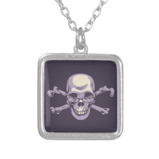Nerdy Pirate Silver Plated Necklace