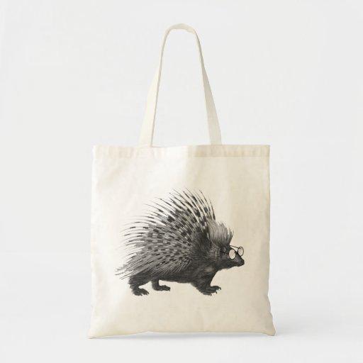 Nerdy Porcupine Tote Bag