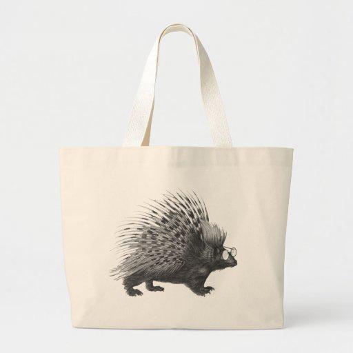 Nerdy Porcupine Canvas Bags