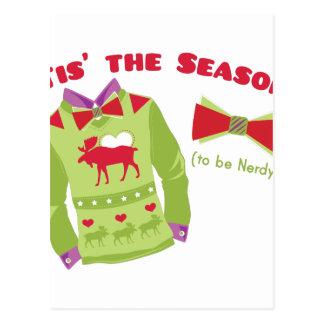 Nerdy Season Postcard