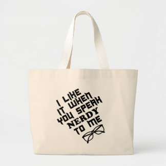 Nerdy Tote Jumbo Tote Bag