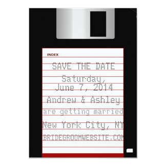 Nerdy Wedding Save The Date Floppy Disk Card
