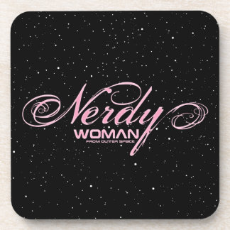 Nerdy Woman FOS Coaster
