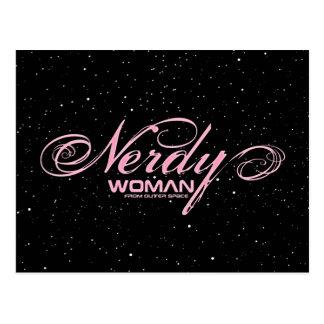 Nerdy Woman FOS Postcard
