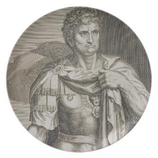 Nero Claudius Caesar Emperor of Rome 54-68 AD engr Dinner Plate