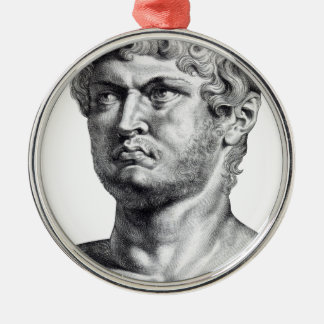 Nero Silver-Colored Round Decoration