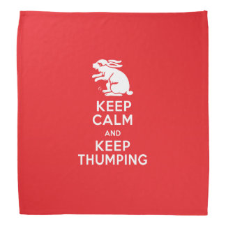 Nervous Bunny Rabbit - Keep Calm and Keep Thumping Bandana