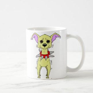 Nervous Chihuahua Cartoon Coffee Mugs