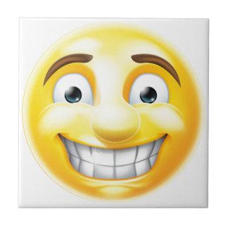 Nervous Grin Emoji Emoticon Small Square Tile