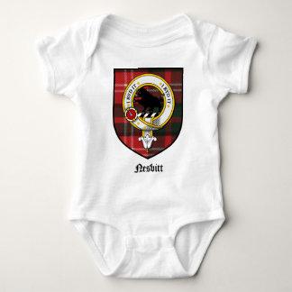 Nesbitt Clan Crest Badge Tartan Baby Bodysuit