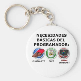 Nesidades basic of the programmer basic round button key ring