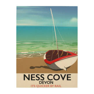 Ness Cover Devon vintage rail travel poster