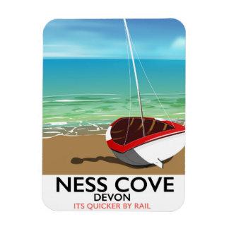 Ness Cover Devon vintage rail travel poster Rectangular Photo Magnet