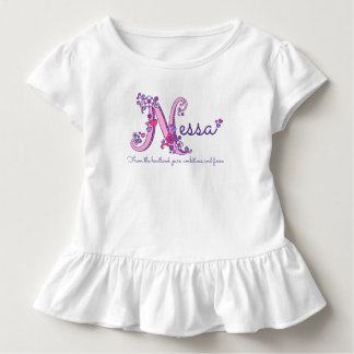 Nessa girls name & meaning N monogram shirt