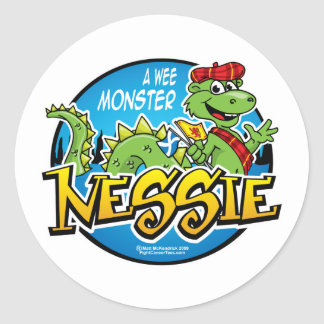 Nessie: A Wee Monster Classic Round Sticker