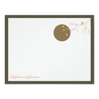 Nesting Bird Family *02 Baby Shower Thank You Card 11 Cm X 14 Cm Invitation Card