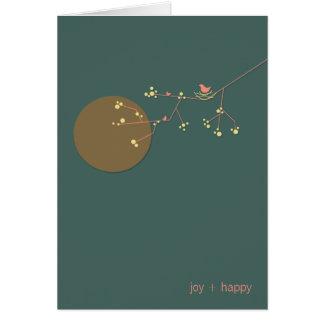 Nesting Bird + Family   *02   Blank Note Card