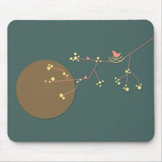 Nesting Bird + Family 02 Mousepad